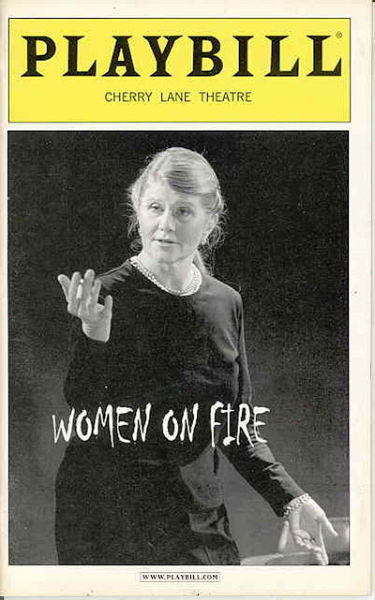 Women on Fire Playbill